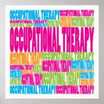 Terapia ocupacional colorida poster