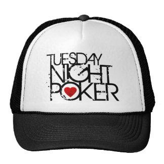 Terça-feira à noite póquer boné