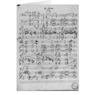 Terceira sonata para o piano e o violino cartão comemorativo