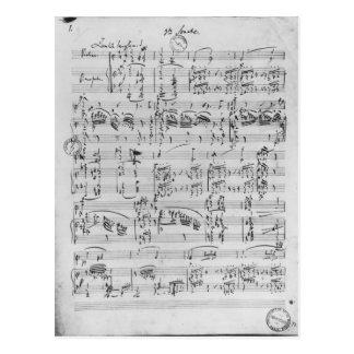 Terceira sonata para o piano e o violino cartão postal