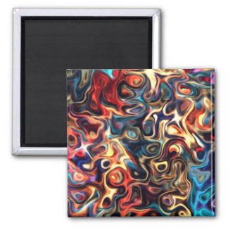 Terceira Z.2 arte moderna colorida 92,5 Imã