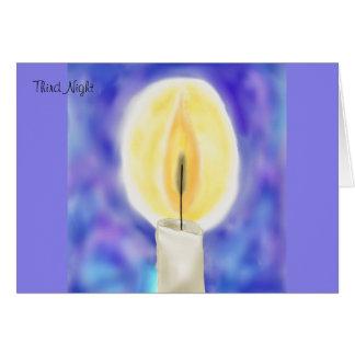 Terceiro cartão de Hanukkah da noite