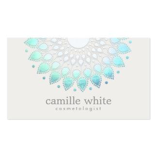 Termas brancos elegantes e beleza de Lotus Cartão De Visita