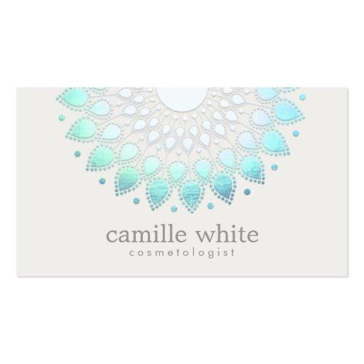 Termas brancos elegantes e beleza de Lotus da Cartão De Visita