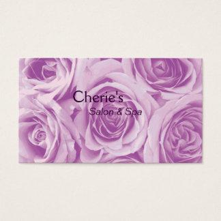 Termas - cartão de visita cor-de-rosa dos rosas do