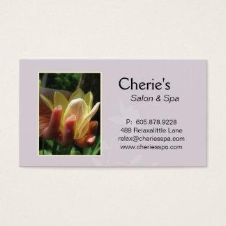 Termas - cartão de visita da tulipa do Manicure do