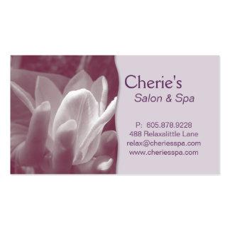 Termas - cartão de visita do Lilac do Manicure do