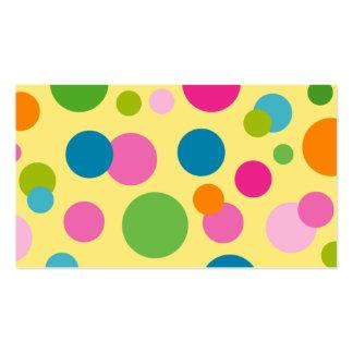 Termas - cartão de visita dos círculos de cor do s