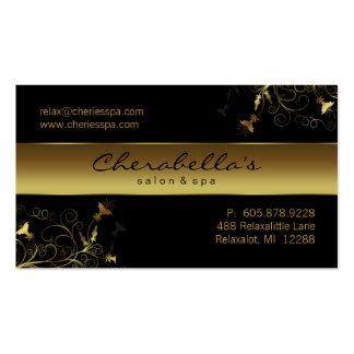 Termas - cartão de visita elegante do ouro da flor