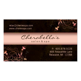 Termas - cartão de visita elegante do pêssego da f