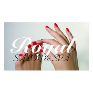Termas da beleza do Pedicure do Manicure do salão Cartão De Visita