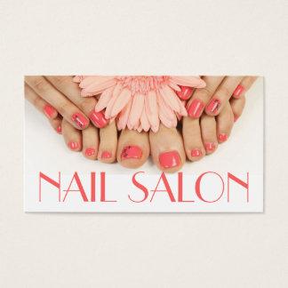Termas da beleza do Pedicure do Manicure do salão Cartão De Visitas