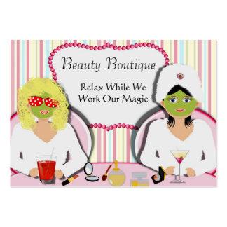 Termas da saúde do salão de beleza do divertimento cartoes de visita