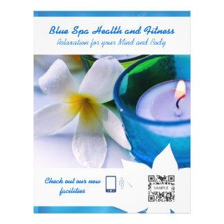 Termas do azul do modelo do insecto panfleto personalizado