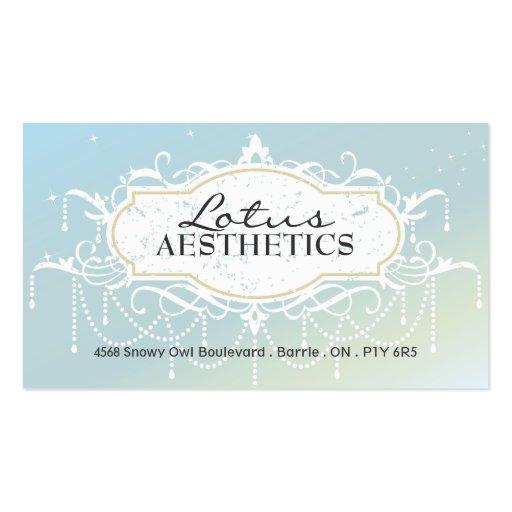Termas e cartão de visita da estética