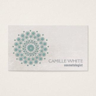 Termas elegantes da textura do marfim do círculo cartão de visitas