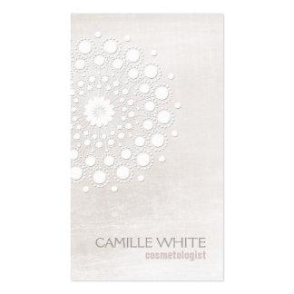 Termas naturais e orgânicos do Rosette branco da Cartão De Visita