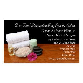Termas/preto/cor da cena salão de beleza da massag cartões de visitas
