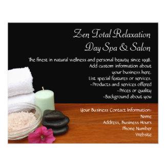 Termas/preto/cor da cena salão de beleza da massag panfletos