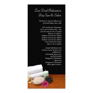 Termas/preto/cor da cena salão de beleza da massag 10.16 x 22.86cm panfleto