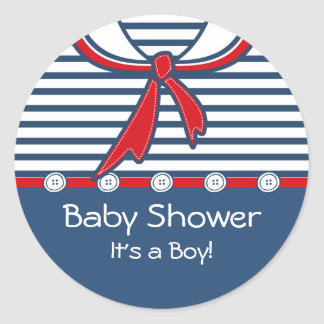 Terno de marinheiro B do bebê Adesivo Em Formato Redondo