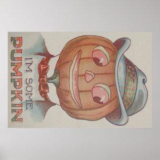 Terno de sorriso da abóbora da lanterna de Jack O Poster