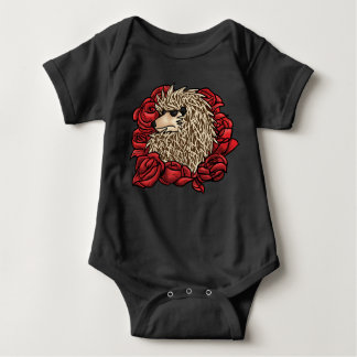 Terno mal-humorado do bebê do ouriço body para bebê