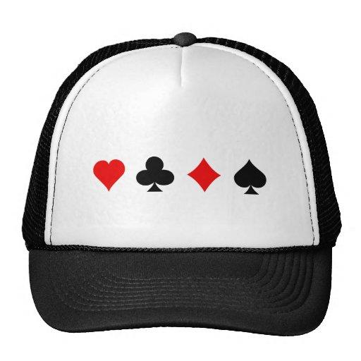 Ternos do cartão do vinte-e-um/póquer: Arte do vet Bonés