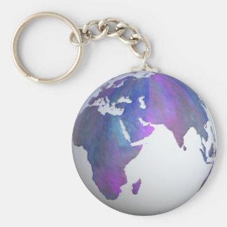 """Terra 2,25"""" chaveiro básico do botão"""