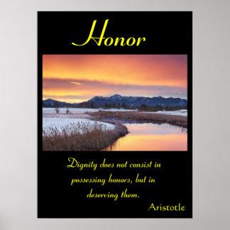 Terra 6 dos posters da honra