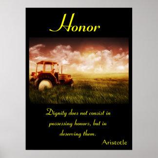 Terra 8 dos posters da honra