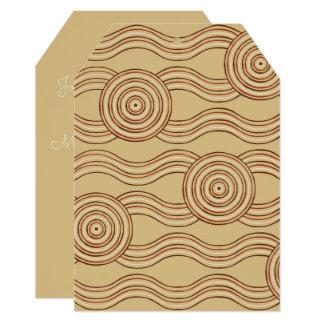 Terra aborígene da arte convite 12.7 x 17.78cm