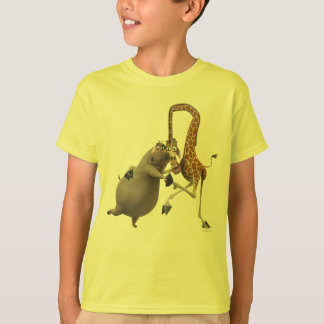Terra arrendada de Gloria e de mão de Melman Camiseta