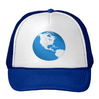 Terra azul do planeta boné