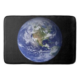 Terra azul do planeta tapete de banheiro