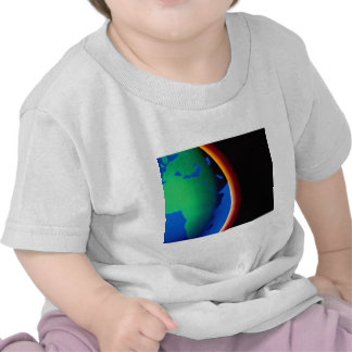 Terra com atmosfera de incandescência t-shirt