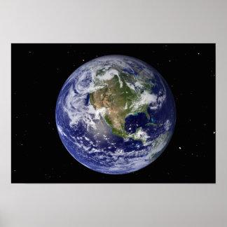 Terra completa que mostra America do Norte 2 Poster