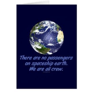 Terra da nave espacial, ambiente cartão