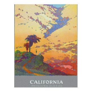 Terra das férias de Califórnia América Cartão Postal