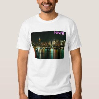 TERRA das FÉRIAS de Miami Beach, Florida T-shirts