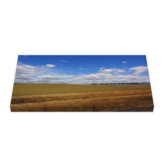 Terra de fazenda bonita impressão em tela