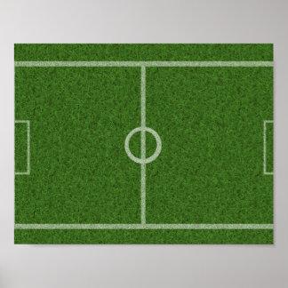 Terra de futebol verde pôster