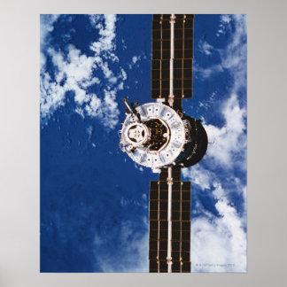 Terra de órbita satélite 2 poster