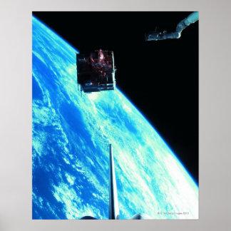 Terra de órbita satélite 3 pôsteres