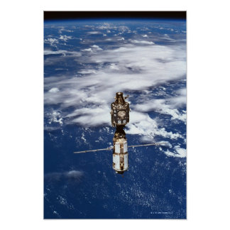 Terra de órbita satélite 4 pôster