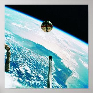 Terra de órbita satélite 7 pôsteres