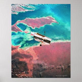Terra de órbita satélite 8 poster