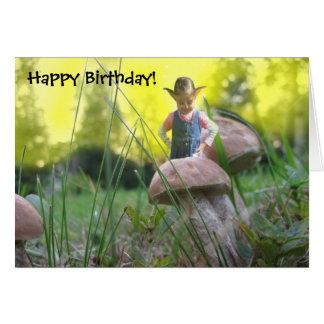 Terra de Shroom - feliz aniversario! Cartão