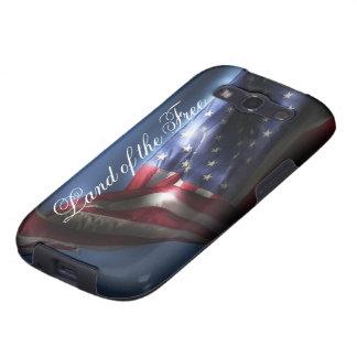 Terra do livre+Bandeira americana Capas Personalizadas Samsung Galaxy S3
