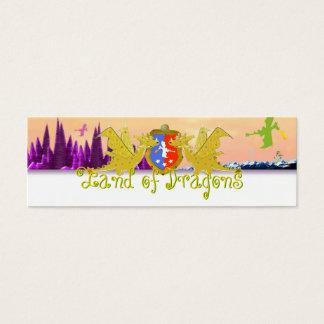 Terra do nome de etiqueta Emma dos dragões para Cartão De Visitas Mini